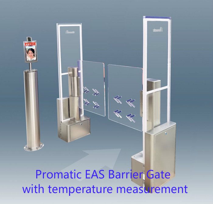 EAS Barrier Gate with Temperature measurement